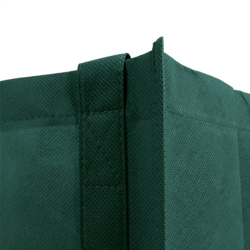10 Color Variety Simply Green Solutions Reusable Reinforced Handle Grocery Tote Bag Large 10 Pack