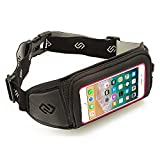 Sporteer Kinetic Running Belt for iPhone X, iPhone 8 Plus, iPhone 7 Plus, iPhone 6S Plus with Cases - Also Fits iPhone 8, iPhone 7, iPhone 6S with Otterbox Defender, Lifeproof, and Other Thick Cases