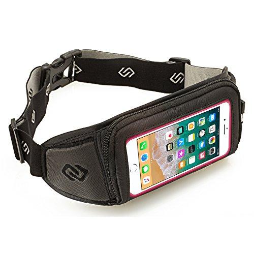 Sporteer Kinetic Running Belt for iPhone X, iPhone 8 Plus, iPhone 7 Plus, iPhone 6S Plus with Cases - Also Fits iPhone 8, iPhone 7, iPhone 6S with Otterbox Defender, - Running Kinetic