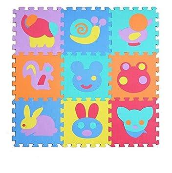 Aardvark Art Kinder Puzzlematte Pielpolster robuster Spielteppich Spielmatte Schaumstoffmatte mit Schall-Dämmung Baby Krabbelmatte Spieldecke (Alphabet und Zahlen) LSH1236