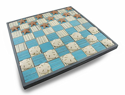 checkers board game wooden - 8