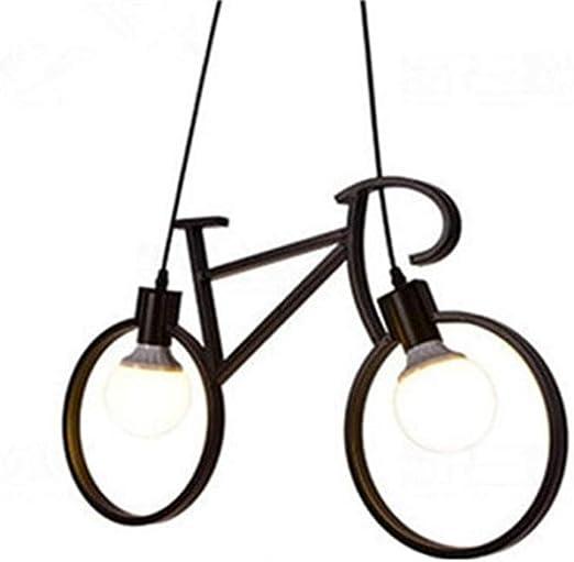 Lámparas de araña moderna creativa, luces LED de metal y bicicleta ...