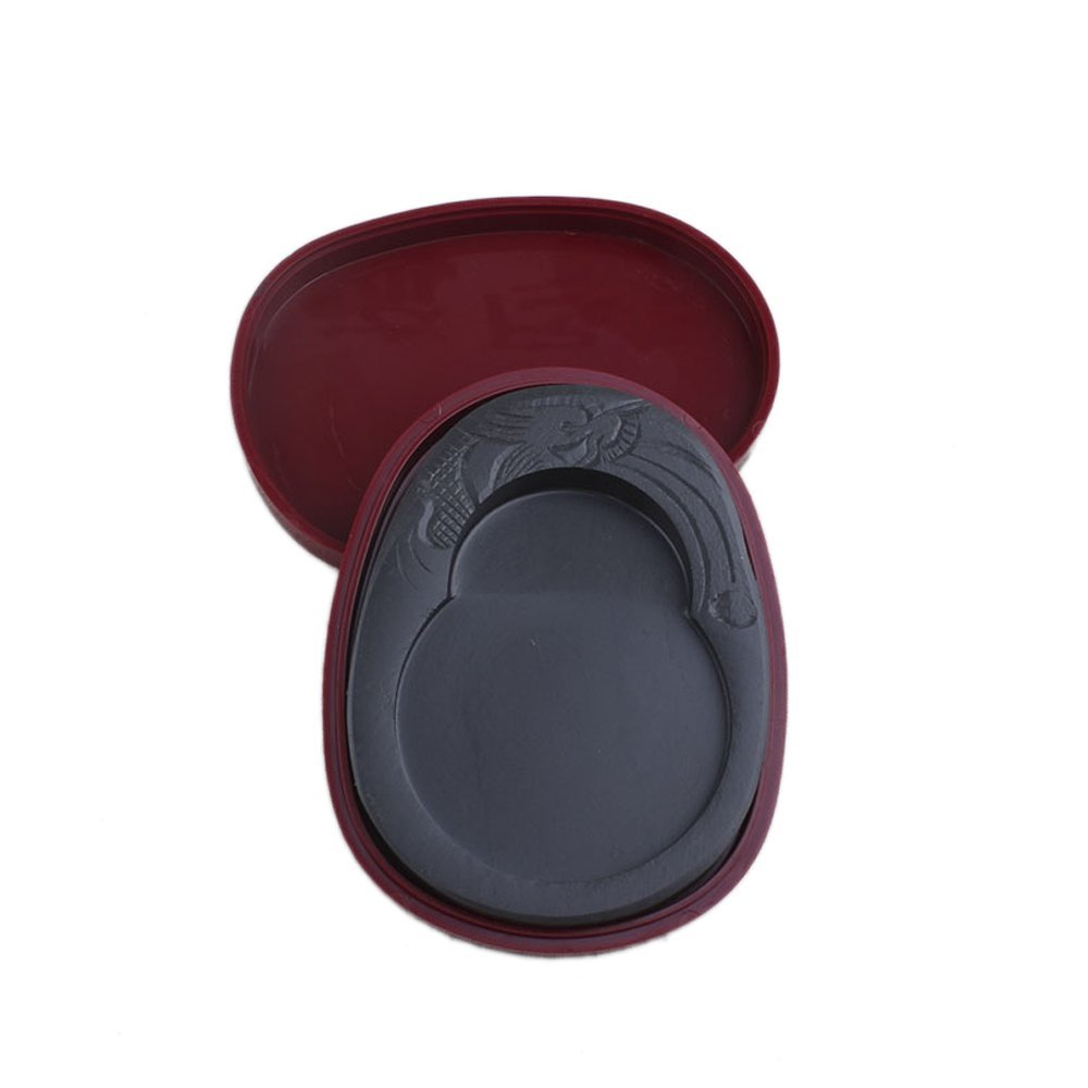T Tocas 12.5cm Ink Stone with Cover /& 10cm Oil Smoke Ink Block FSIW52
