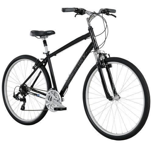 Diamondback Bicycles 2014 Edgewood Men's Sport Hybrid Bike (700cm Wheels), 17-Inch, Black