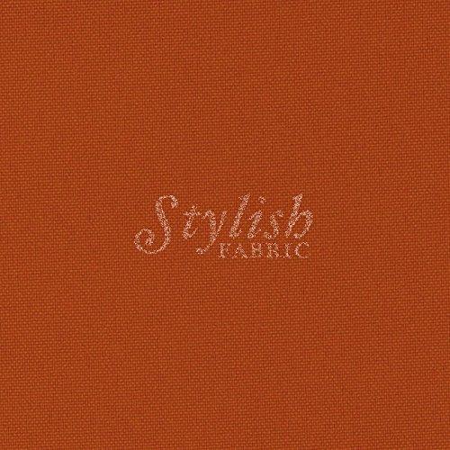 Rust Solid Poly Poplin Fabric By The Yard - 1 Yard by Stylishfabric   B00MHZYY0I