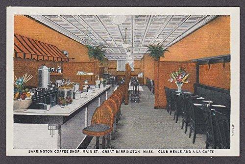 Barrington Coffee Shop Main St Great Barrington MA postcard 1930s (Main St Shops)