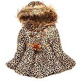 acefast inc toddler - Baby Girls Cute Faux Fur Leopard Hoodies Coat Kids Winter Warm Jacket Snowsuit (4-5 Years)