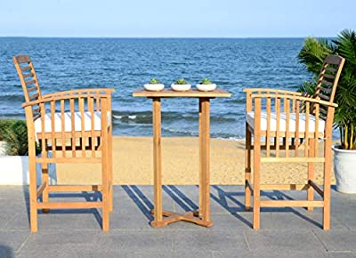 "Safavieh Outdoor Collection Pate 3 Pc 39.8"" Bar Table Bistro Set"