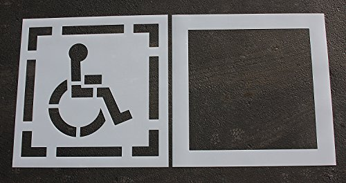 RAE 30-inch DOT HANDICAP Parking Stencil for use in Parki...