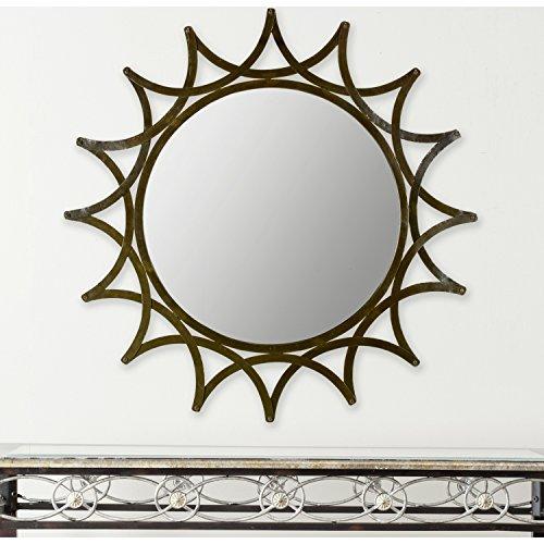 Safavieh Home Collection New Mayan Star Mirror, Warm Amber