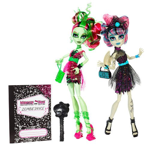 Monster High Zombie Shake Rochelle Goyle and Venus McFlytrap Doll (2Pack)