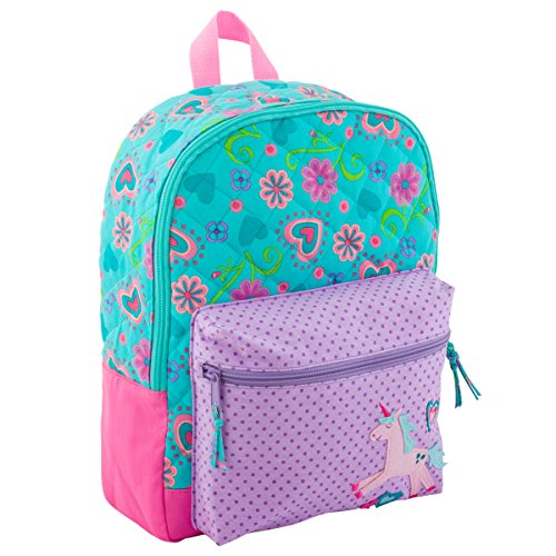 Stephen Joseph Girls Quilted Unicorn Backpack - Cute Toddler