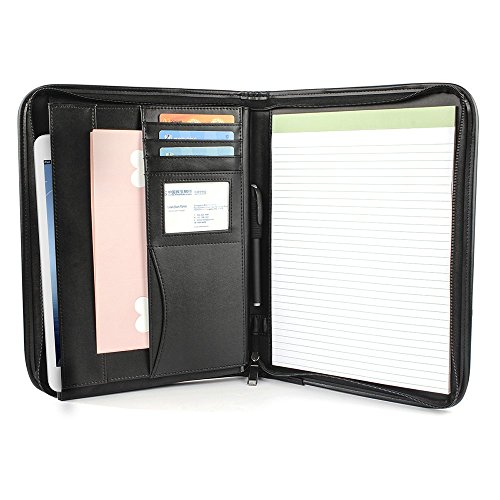 Zipper Portfolio Pen Interview Organizer
