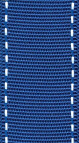 Entertaining with Caspari Grosgrain Stitch Wired Ribbon, Marine Blue and White (Wired Stitch)