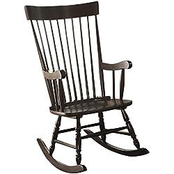 Acme Furniture Arlo 59297 Rocking Chair, Black, One Size