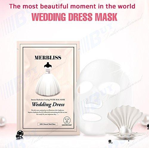 Seal Retaining - Intense Hydration Coating Nude Seal Face Mask Sheet - 5 Pack, MERBLISS Wedding Dress Series…