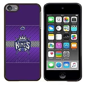 Sacramento Rey de Baloncesto- Metal de aluminio y de plástico duro Caja del teléfono - Negro - iPod Touch 6