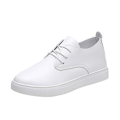 5b06844c60b5 OHQ 2018 Chaussures Blanches Femmes Lacets De Sport Universitaires Noir  Blanc Mode DéContractéEs Semelles Confortables Plateforme