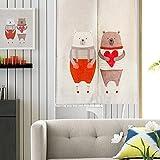 KARUILU home Japanese Noren Doorway Curtain/Tapestry 33.5'' Width x 47.2'' Long (I love you bear)