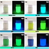 6 Color Pack Glow in The Dark Pigment Powder - 25g Each,150g Total