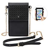 seOSTO Small Crossbody Bag, Cell Phone Purse Smartphone Wallet with Metal Chain Strap Handbag for Women