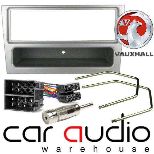 T1 Audio T1-VX02 PACK - Vauxhall Meriva 2000 - 2004 Complete Car Stereo Facia Fitting Kit. Single Din Facia, Release Keys, ISO Loom & Aerial Adaptor (Silver): Amazon.co.uk: Electronics