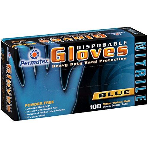 Permatex 09184 Medium Disposable Nitrile Gloves, Box of 100 by Permatex