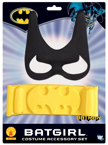 Batgirl Child's Costume Accessory Set (Mask Black Bat)