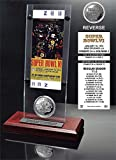 "NFL Dallas Cowboys Super Bowl 6 Ticket & Game Coin Collection, 12"" x 2"" x 5"", Black"