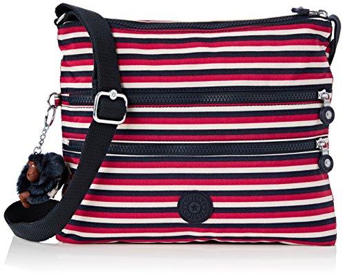 Kipling Womens Alvar Cross-Body Bag Multicolour (Sugar Stripes)