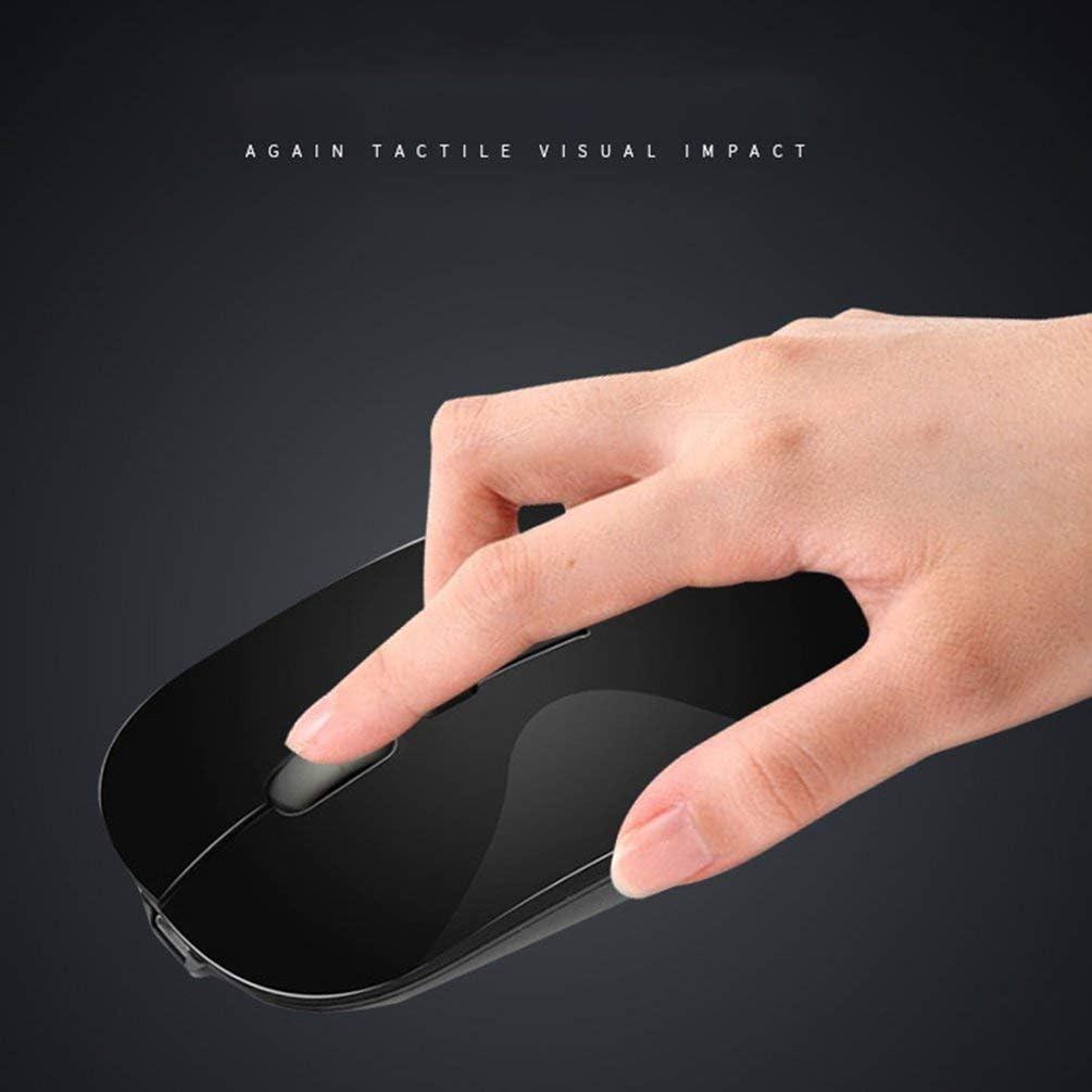 Souris sans fil ultra-mince de bureau pour ordinateur portable souris de charge silencieuse 2,4 G rose