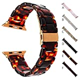 Lovewe Apple Watch Band,Luxury Crystal Resin Bling Agate Beads Watch Band,Wrist Strap For iwatch(38MM/42MM) (A, 42mm)