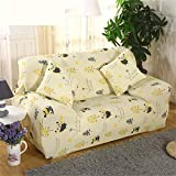 YHviking Stretch Sofa Cover,All Inclusive Universal Anti-Slip Sofa Towel,Pattern Sofa slipcover Soft Durable Machine Washable 1-Piece-D 92-118in