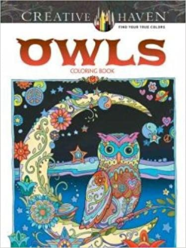 Coloring Book Just Add Water Amazon Creative Haven Owls Adult
