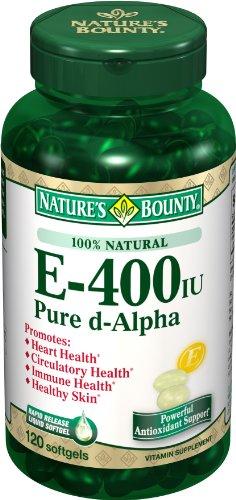 Bounty Nature E-400 Iu Pure Natural D-alpha, 120 gélules