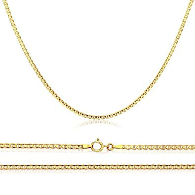 a21890aa8 Verona Jewelers 14K Gold Unisex 1.5mm Flat Mariner Gucci Link Chain Necklace-  16