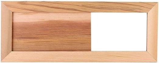 Set C/èdre Grille Da/ération De Sauna Sauna HomeDecTime 2pcs Accessoires De Sauna 33x13cm