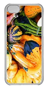 Customized iphone 5C PC Transparent Case - Fall Pumpkins Personalized Cover
