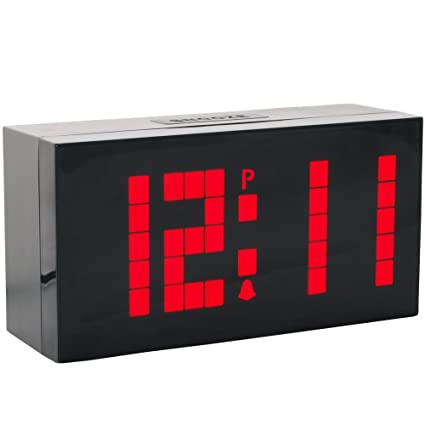 LambTown Reloj Despertador Digital LED con Temporizador de Cuenta Atrás Fecha de Temperatura - rojo