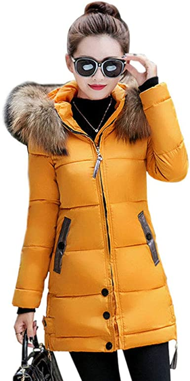 Gtagain Mujer Ropa de Abrigo Abrigos Plumón - Mujer Algodón ...