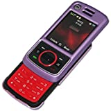 Amzer AMZ22043 Snap on Crystal Hard Case for Nextel Motorola i856 (Polished Purple)