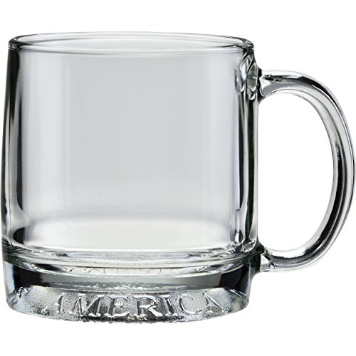 Glass Eagle Mug (Culver Mug America Glass Mug, Made in the USA, Patriotic American Eagle Design, (Single Mug, 12-Ounce))