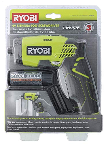 (Ryobi HP54L 4V Lithium Ion 600RPM 1/4 Inch Hex Chuck Compact Quickturn Screwdriver (4V Lithium Ion Battery and Charger Included))