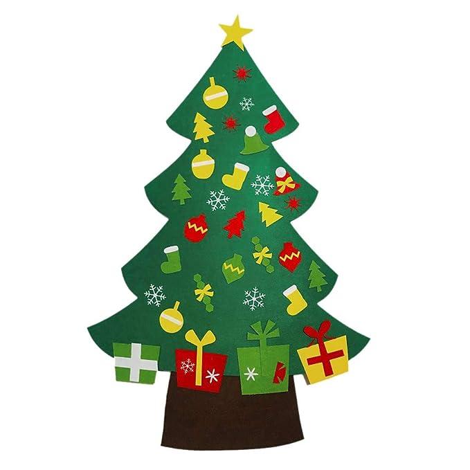 Wawer Diy Filz Weihnachtsbaum Set 103x73cm Grün Weihnachtsbaum
