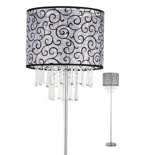 Beleuchtung Wohnzimmer Schlafzimmer Nachttisch Moderne Mode Kristall Licht Stehleuchte (grau)