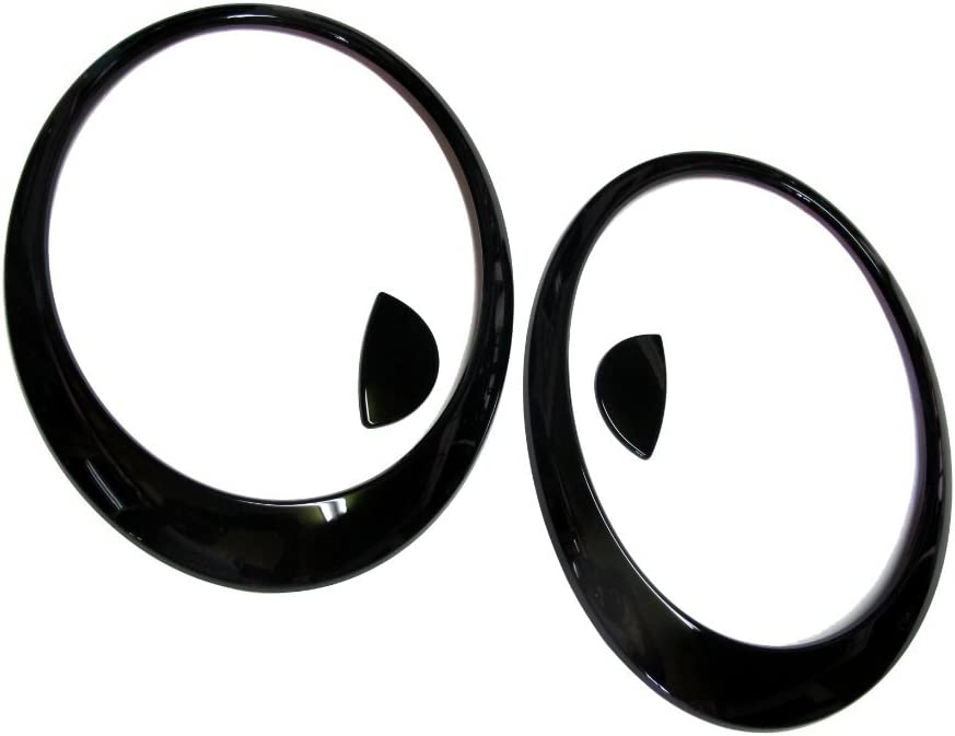 B0739ZCXPK ATEX 2007~2013 Mini Cooper R56 S Glossy Black Head Light Lamp Trim Cover (Painted) 5173lNFCHcL