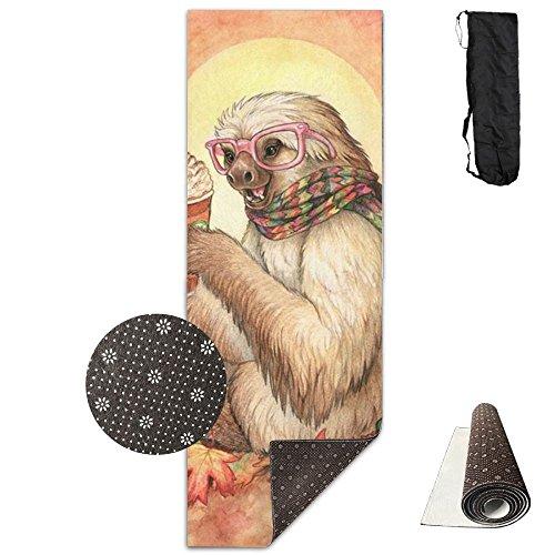 Yoga Mat Sloth Animal Comfortable Premium Mat Exercise Mat Safety Carrying Strap