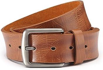 Eg-Fashion Herren Jeans Gürtel mit Ziernaht am Rand Pu-Leder Gürtel in 3,8 cm Breite - Individuell kürzbar
