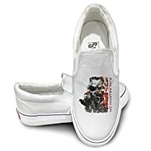 EWIED Unisex Classic Metal Gear Solid V The Phantom Pain Slip-On Shoes White Size37