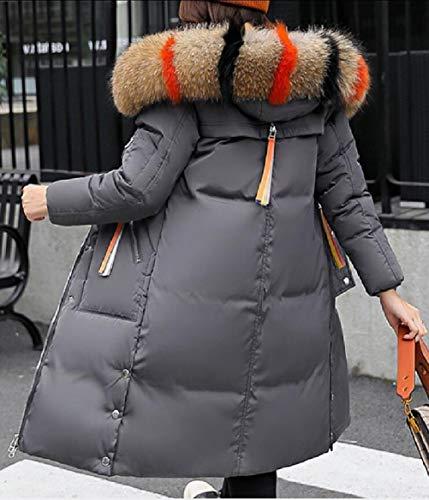 Il Con Lungo Ispessiscono Parka Assetto Sicurezza Cappotto Gery Di Pelliccia Puffer Cappuccio Donne Delle Cappotto Inverno R5pq1n